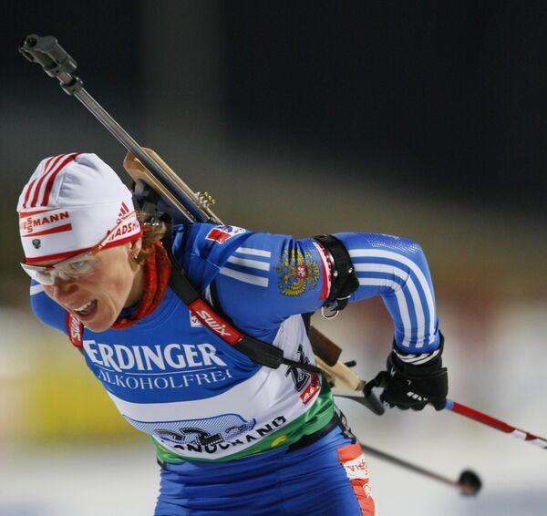 Российская биатлонистка Ольга Зайцева