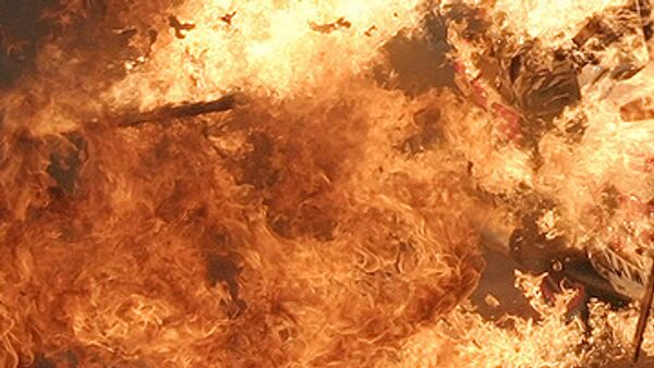 Женщина сожгла сама себя в поселке Внуково под Москвой