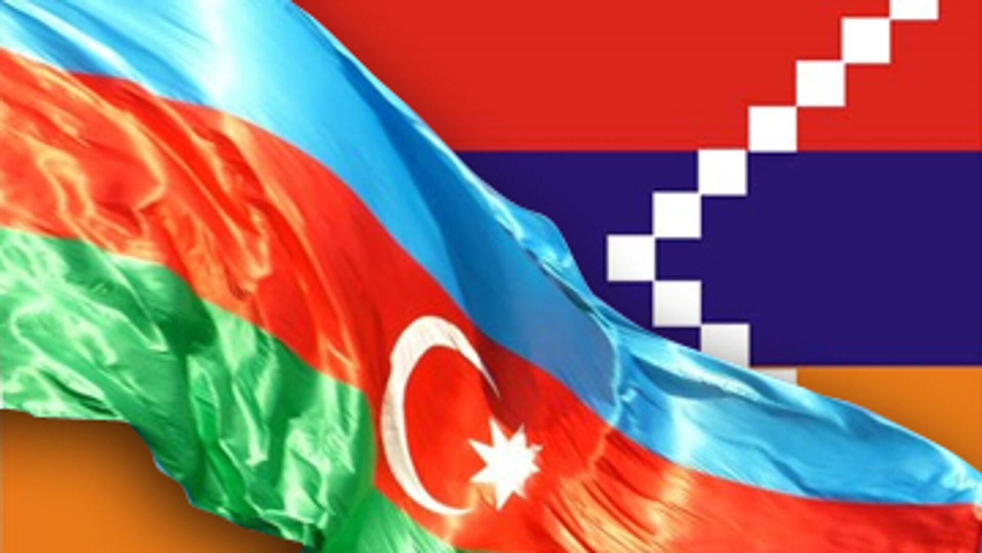 Флаги Азербайджана и Нагорного Карабаха - РИА Новости, 1920, 03.10.2020