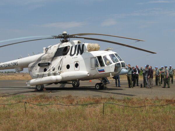 База Российской авиагруппы, входящей в состав Миссии ООН в Южном Судане