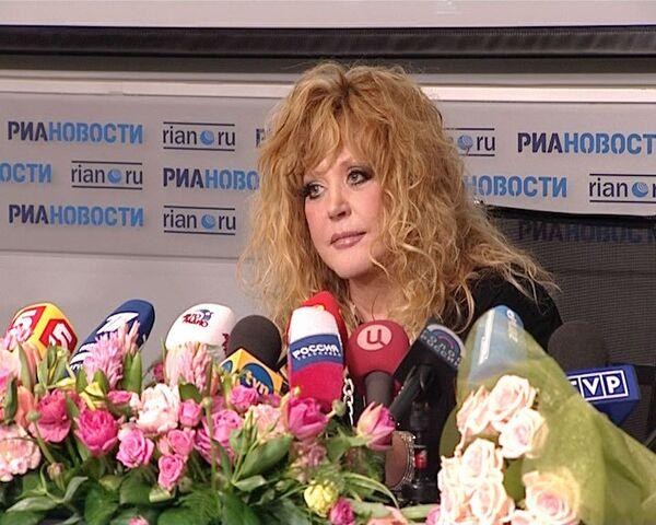 Лучшие шутки Аллы Пугачевой на пресс-конференции в РИА Новости