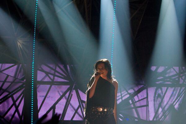 Анастасия Приходько на финале национального отбора на Евровидение-2009