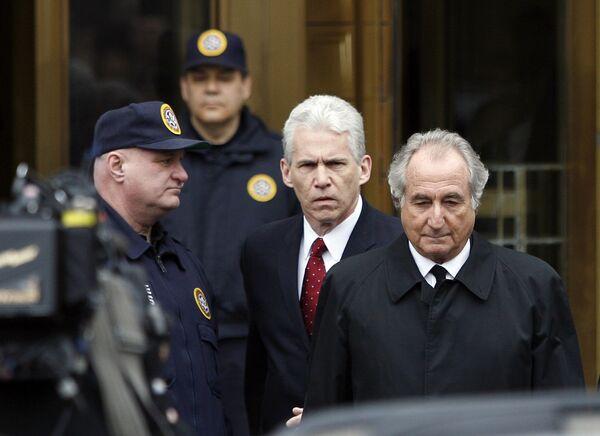 Бернард Мэдофф в федеральном суде Манхэттена
