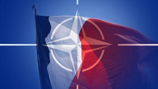 Франция и НАТО. Коллаж