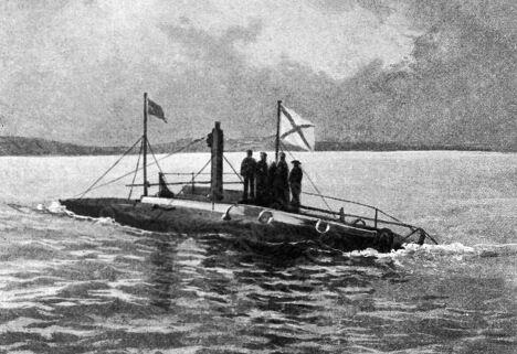 Первая русская подводная лодка Дельфин