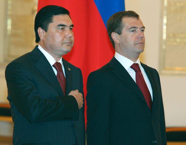 Официальная церемония встречи в Кремле президента Туркменистана Гурбангулы Бердымухамедова