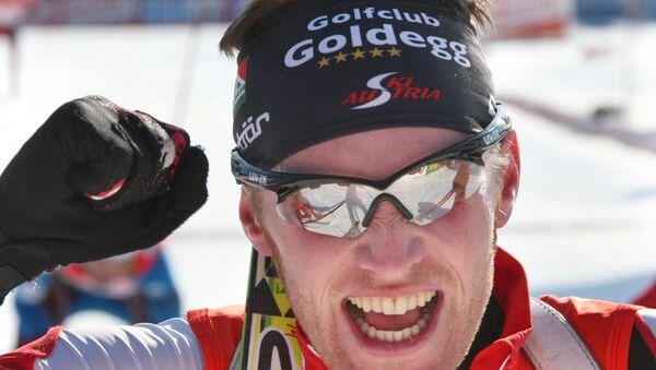 Австрийский биатлонист Симон Эдер