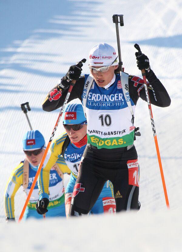 Немецкая биатлонистка Симона Хаусвальд
