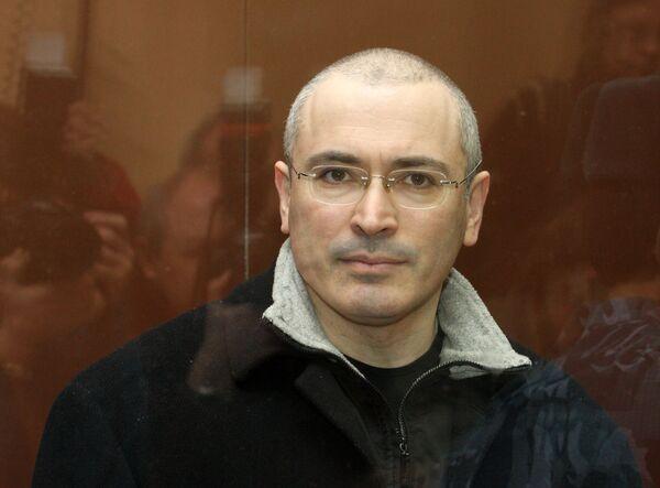 Михаил Ходорковский в здании Хамовнического суда Москвы. Архив