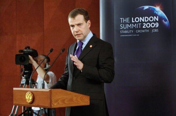 Пресс-конференция президента РФ Д.Медведева