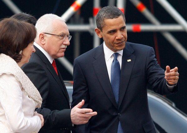 Барак Обама в Чехии
