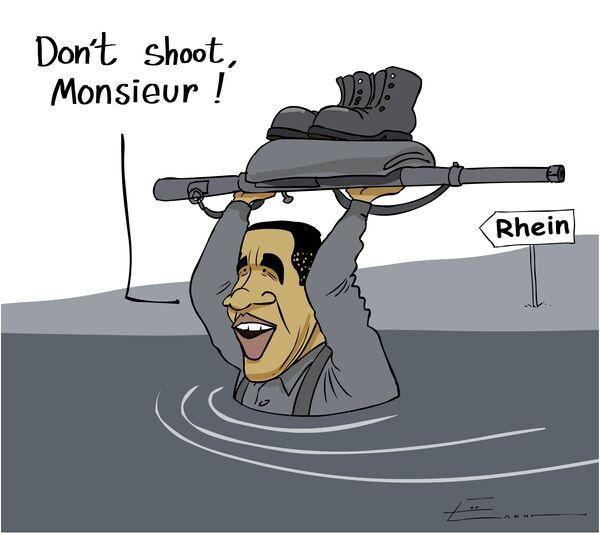 Переход Обамы через Рейн