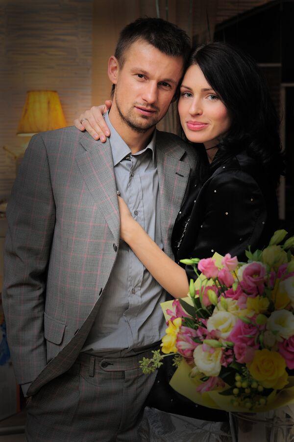 Сергей Семак и Анна Семак