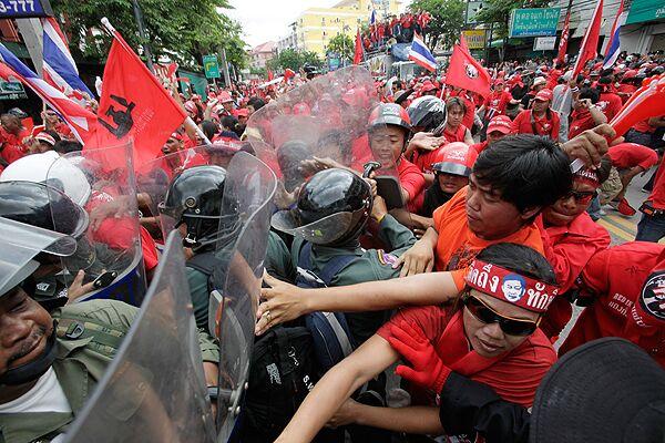 Акция протеста в Таиланде