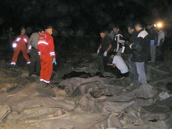Семья с 11 детьми, предположительно, погибла под оползнем в Киргизии