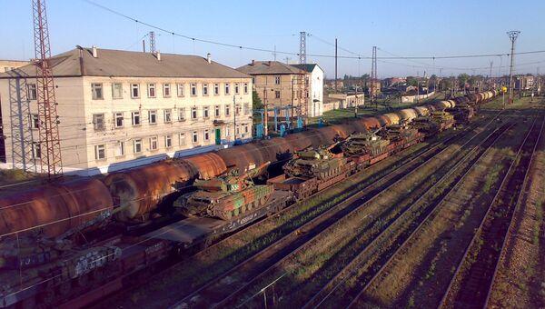 Ж/д станция Красный Лиман в Донецкой области. Архивное фото