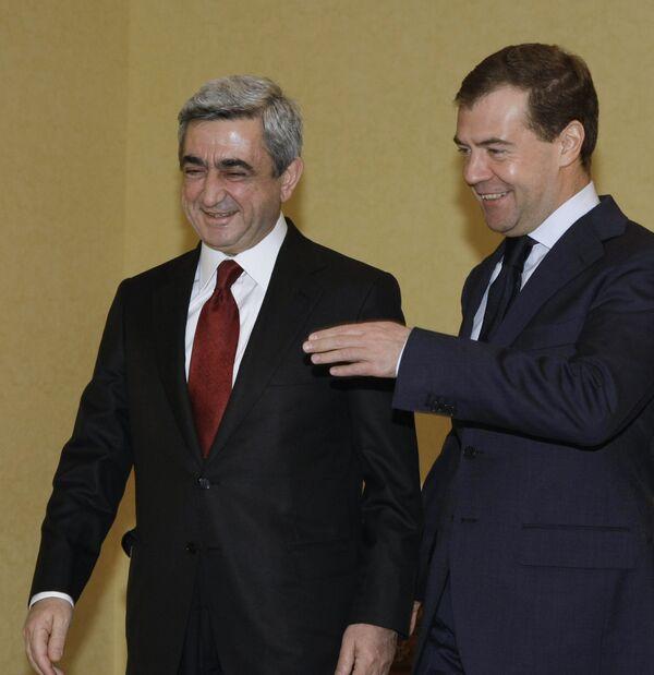 Президенты России и Армении Д.Медведев и С.Саргсян