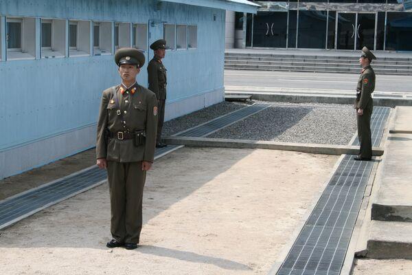 Демилитаризованная зона между Северной и Южной Кореей. Архив