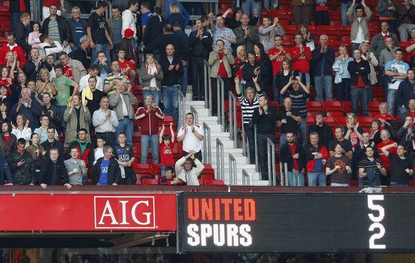 Табло после матча Манчестер Юнайтед - Тоттенхэм