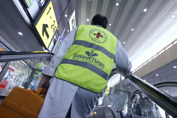 В аэропортах Москвы повышены меры безопасности в связи с угрозой распространения свиного гриппа