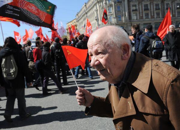 Российские политики отметят День Победы митингом и флеш-мобом