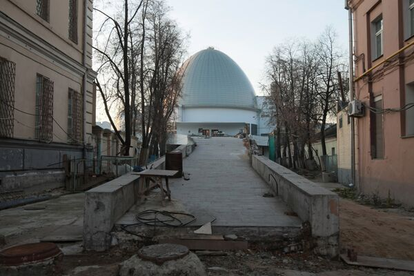 Здание Московского планетария. Архив