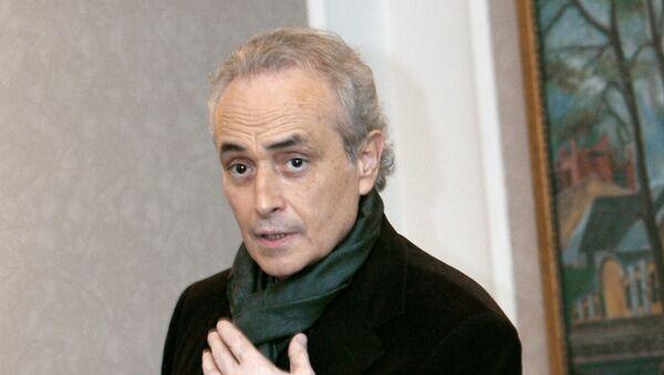 Звезда мировой оперной сцены Хосе Каррерас. Архивное фото