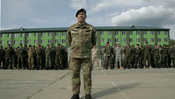 Официальное открытие учений НАТО в Грузии. Архивное фото
