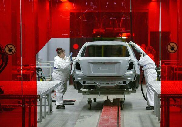 Сборка автомобилей Chevrolet Lacettii на заводе автоконцерна General Motors