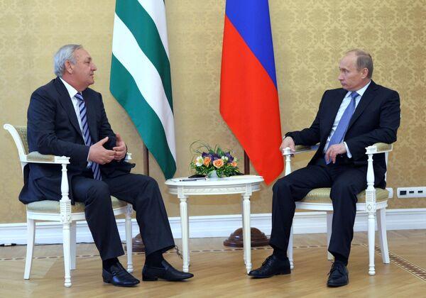Встреча В. Путина с С. Багапшем