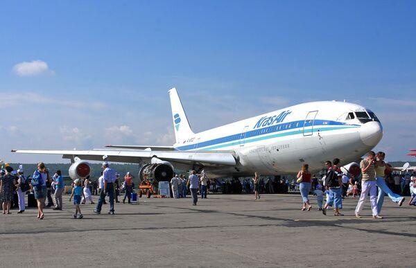 Самолет Ил-86 авиакомпании Красноярские авиалинии