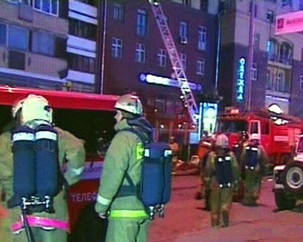 Два пожара за одну ночь произошли в ресторане Макдоналдс в Москве