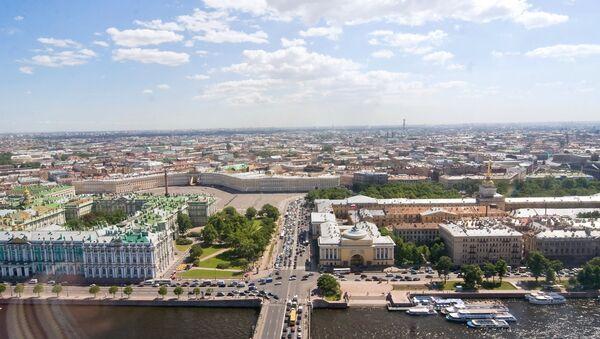 Вид Петербурга с верхней точки. Архивное фото