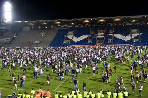 Фанаты команды Бордо радуются победе.