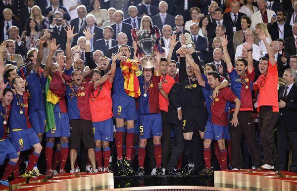 Барселона выиграла Лигу чемпионов