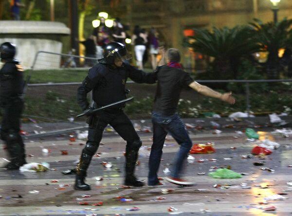Полиция столицы Италии задержала фаната Барселоны