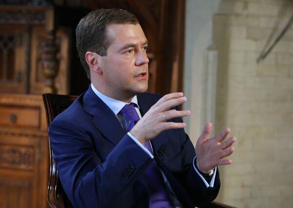 Президент РФ Д.Медведев дал интервью американскому телеканалу Си-Эн-Би-Си