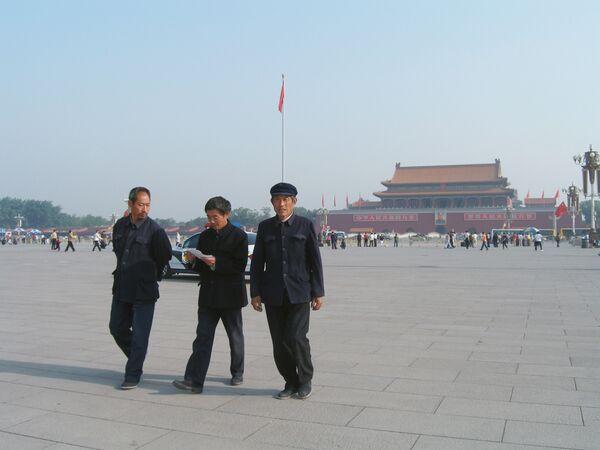 На площади Тяньаньмэнь