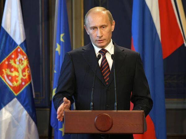 Пресс-конференция премьер-министров России и Финляндии В. Путина и М. Ванханена