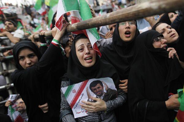 Сторонники президента Ирана Махмуда Ахмадинежада