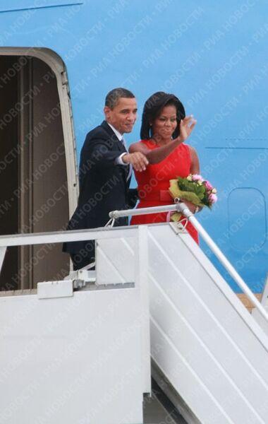 Президент США в аэропорту Внуково-2