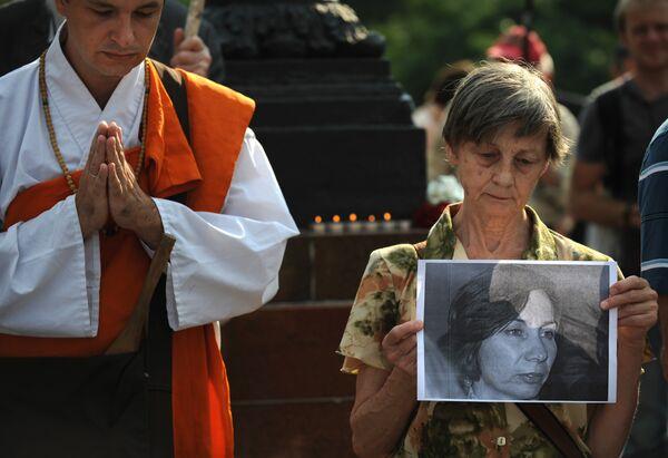 Пикет памяти правозащитницы Натальи Эстемировой