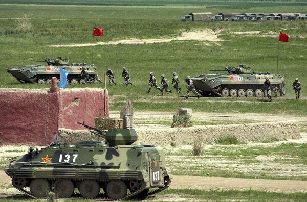 Совместные российско-китайские антитеррористические учения Мирная миссия-2009
