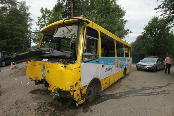 ДТП с участием маршрутного автобуса на Рублево-Успенском шоссе