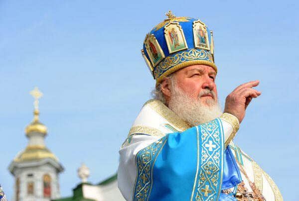 Патриарх Кирилл посетил Почаевскую Лавру в Тернопольской области Украины