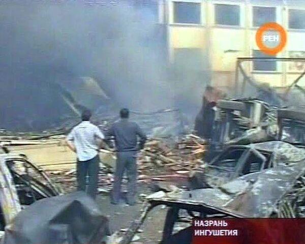 Взрыв в центре Назрани. Видео с места событий