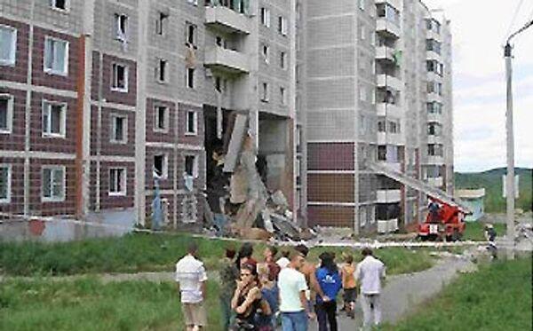 Ликвидация последствий взрыва газовой трубы в жилом доме г. Амурска Хабаровского края