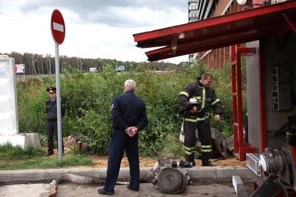 В столице произошел разрыв газопровода на Озерной улице