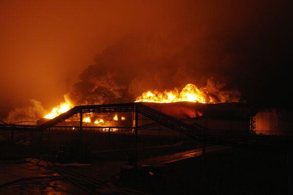 Пожар в резервуарном парке линейно-перекачивающей дожимной станции Конда