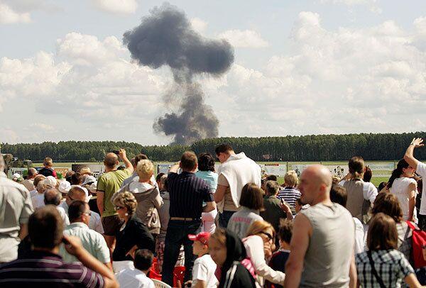 На авиашоу в Польше разбился белорусский Су-27